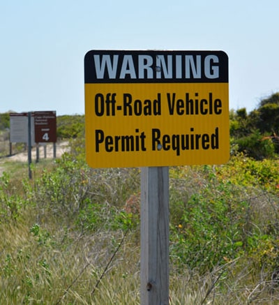 beach driving in the outer banks - permit required