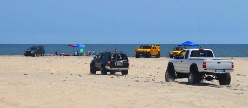 False Cape State Park Drive On Beach