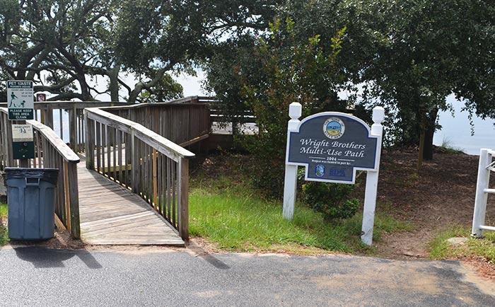 Kitty Hawk Public Sound Access Windgrass Circle Wooden Walkway