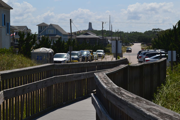 beach access near wright memorial