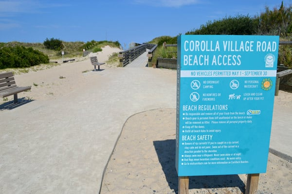 corolla village road beach